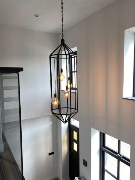 Stalen lamp op maat bij staalinterieur.nl